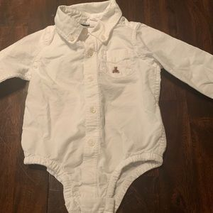 Baby gap oxford shirt onesie NWOT
